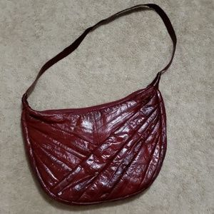 Vintage Eel Skin Leather Shoulder Bag
